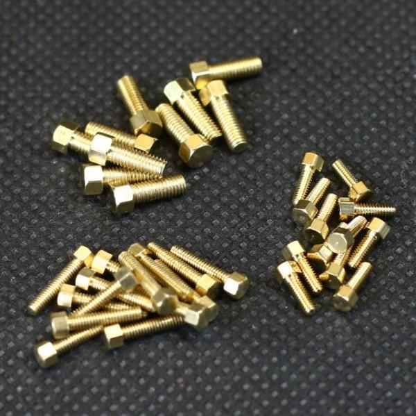Modellbauschrauben in verschiedenen Längen und Durchmesser
