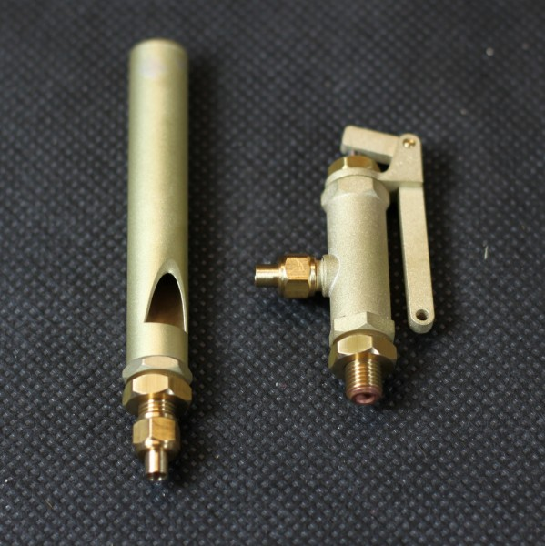 Dampfpfeife mit Ventil für den Dampfmodellbau