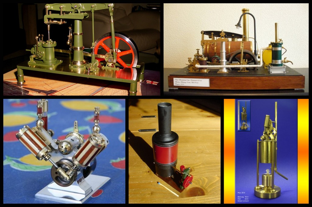 Dampfmaschine gebaut von unseren Kunden