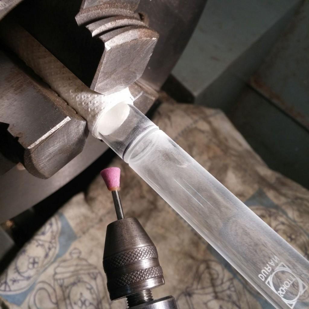 stirlingmotor-glas-zylinder-schneiden