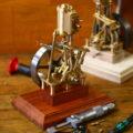 Stehende Dampfmaschine Leni Prototyp bald bei Bengs Modellbau