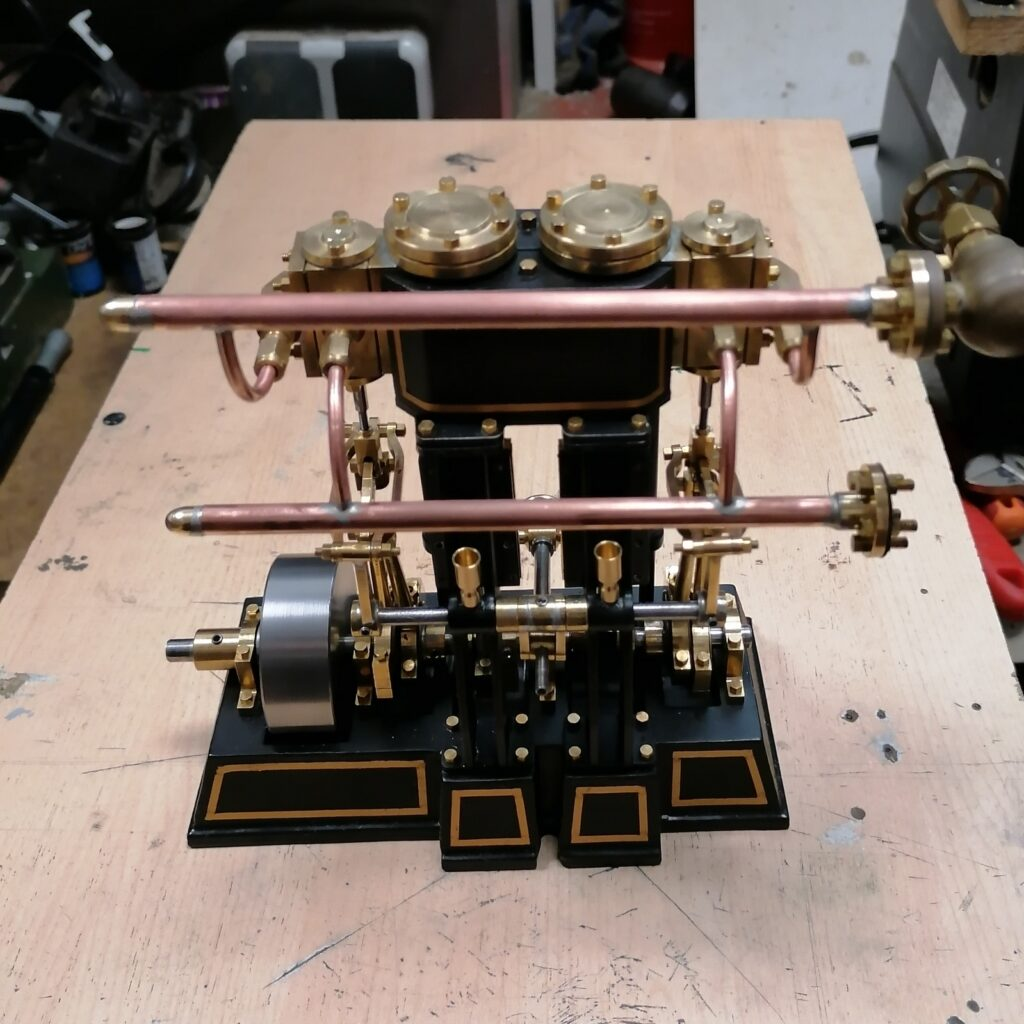 2 Zylinder Baubericht Dampfmaschine Tobias
