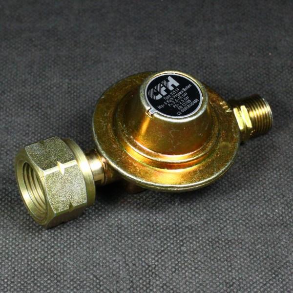 Propan Druckregler fest eingestellt mit dem Druck von 2,5 bar