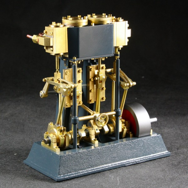 Zwei Zylinder Dampfmaschine Tobias