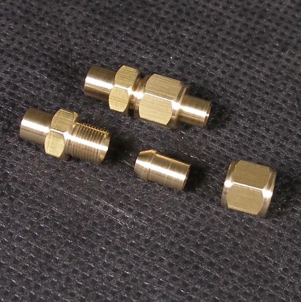Leicht lösbare Einfach-Verschraubung zum verbinden von Dampf- oder Wasserleitungen
