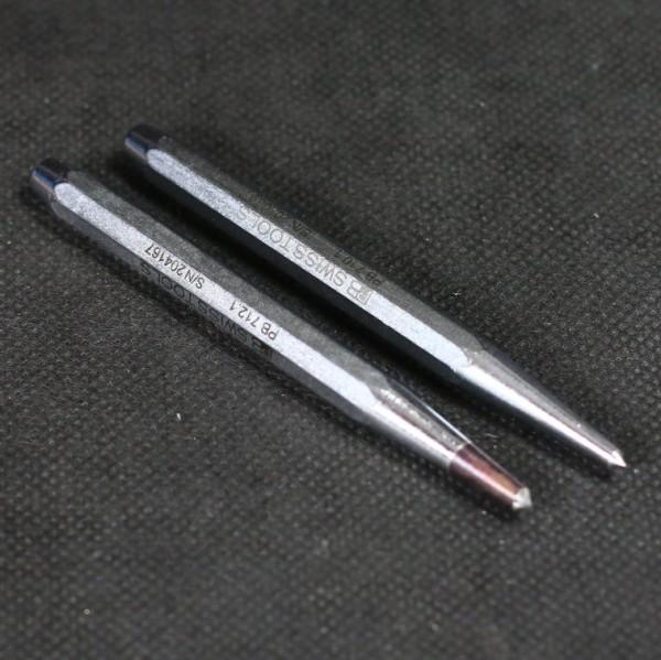 Zentrierkörner aus Chrom-Vanadium mit wahlweise angelöteter Hartmetall-Spitze