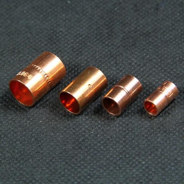 Kupfer-Lötfitting Muffe zum sicheren und unlösbaren Verbinden von Kupferrohren