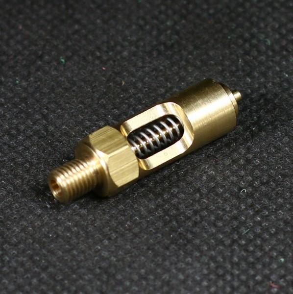 Das Sicherheitsventil schützt vor zu hohem Druck im Dampfkessel