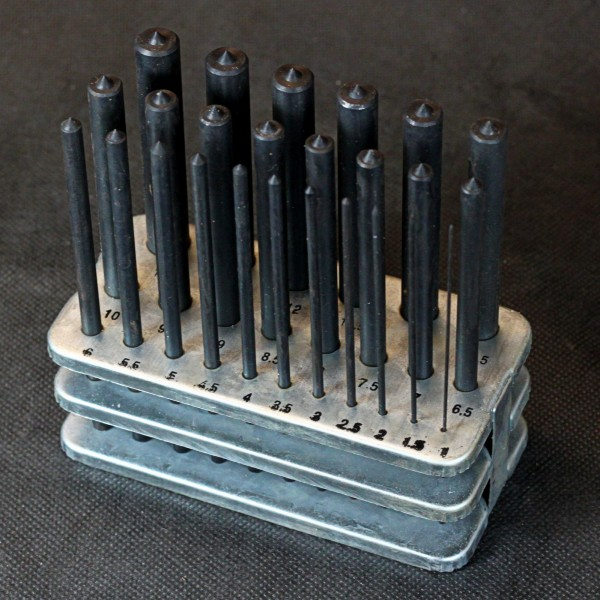 Zentrierkörner set für Metall