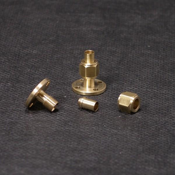 Adapter Flansch auf Verschraubung 4mm Rohr