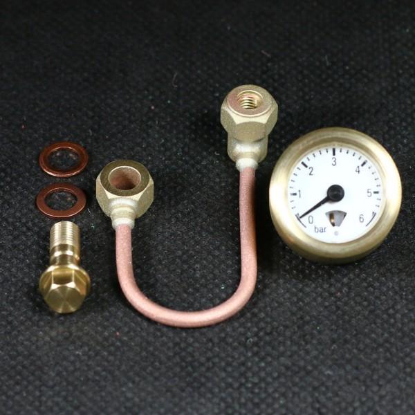 Manometer mit Syphon zur Druckanzeige im Modellbau