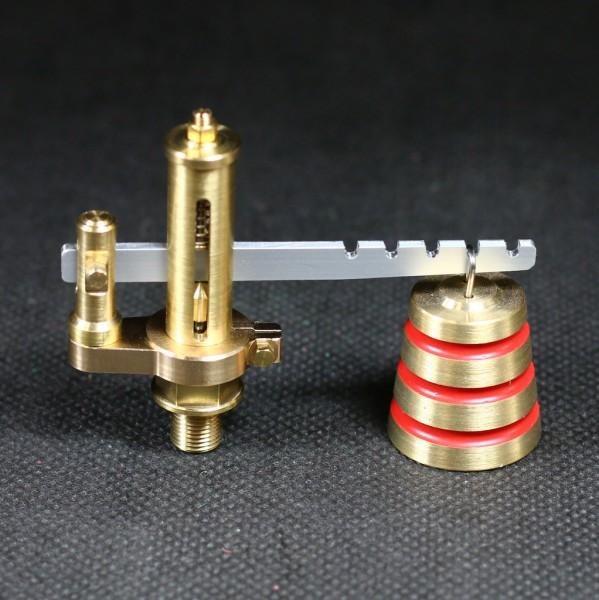 Sicherheitsventil mit Gewicht für einstellbaren Maximaldruck im Dampfkessel