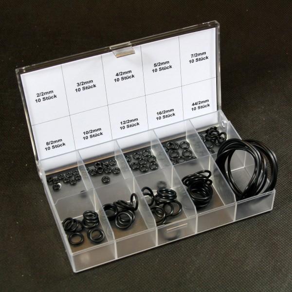O-Ringe in Sammelbox